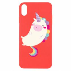 Чехол для iPhone X/Xs Happy color unicorn
