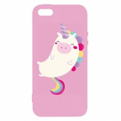 Чехол для iPhone5/5S/SE Happy color unicorn