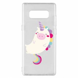 Чехол для Samsung Note 8 Happy color unicorn