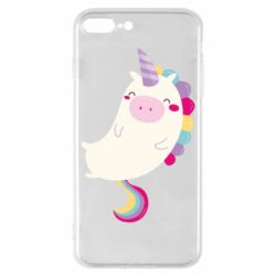 Чехол для iPhone 8 Plus Happy color unicorn
