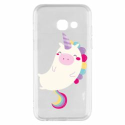 Чехол для Samsung A3 2017 Happy color unicorn