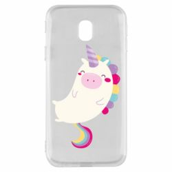 Чехол для Samsung J3 2017 Happy color unicorn