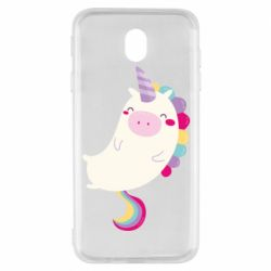Чехол для Samsung J7 2017 Happy color unicorn