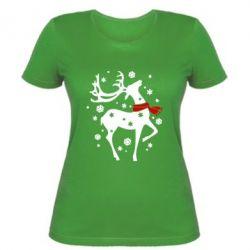 Женская футболка Happy Cristmas - FatLine