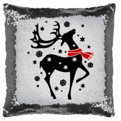 Подушка-хамелеон Happy Cristmas