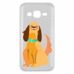 Чехол для Samsung J2 2015 Happy dog with a smile