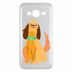 Чехол для Samsung J3 2016 Happy dog with a smile