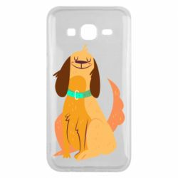 Чехол для Samsung J5 2015 Happy dog with a smile