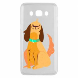 Чехол для Samsung J5 2016 Happy dog with a smile