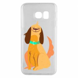 Чехол для Samsung S6 EDGE Happy dog with a smile