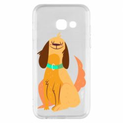 Чехол для Samsung A3 2017 Happy dog with a smile