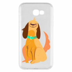 Чехол для Samsung A7 2017 Happy dog with a smile