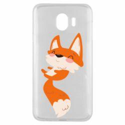 Чехол для Samsung J4 Happy fox