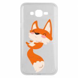 Чехол для Samsung J7 2015 Happy fox