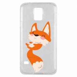 Чехол для Samsung S5 Happy fox