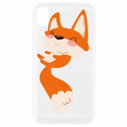 Чехол для iPhone XR Happy fox