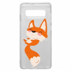 Чехол для Samsung S10+ Happy fox