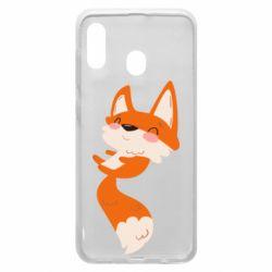 Чехол для Samsung A20 Happy fox