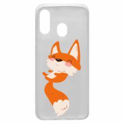 Чехол для Samsung A40 Happy fox