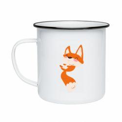 Кружка эмалированная Happy fox