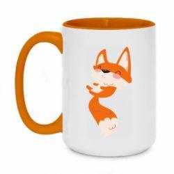 Кружка двухцветная 420ml Happy fox