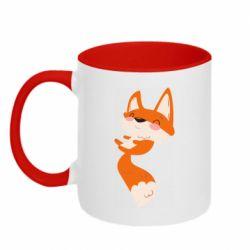 Кружка двухцветная 320ml Happy fox