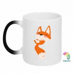 Кружка-хамелеон Happy fox