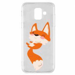 Чехол для Samsung A6 2018 Happy fox
