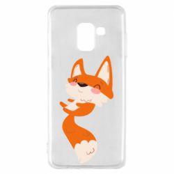 Чехол для Samsung A8 2018 Happy fox
