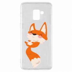 Чехол для Samsung A8+ 2018 Happy fox
