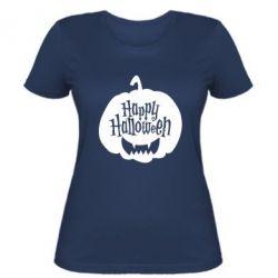 Жіноча футболка Happy halloween smile