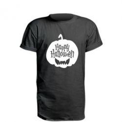 Подовжена футболка Happy halloween smile