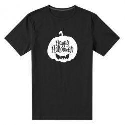 Чоловіча стрейчева футболка Happy halloween smile