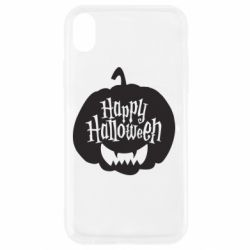 Чехол для iPhone XR Happy halloween smile