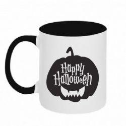Кружка двоколірна 320ml Happy halloween smile