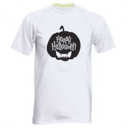 Чоловіча спортивна футболка Happy halloween smile