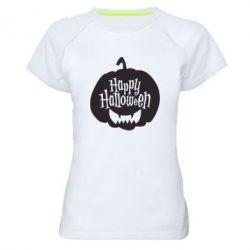 Жіноча спортивна футболка Happy halloween smile