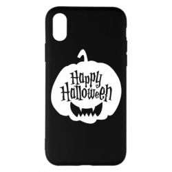 Чехол для iPhone X/Xs Happy halloween smile