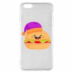 Чехол для iPhone 6 Plus/6S Plus Happy hamburger