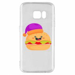 Чехол для Samsung S7 Happy hamburger