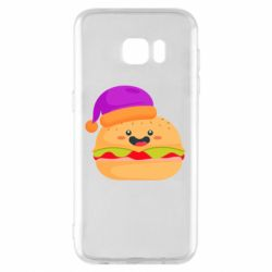 Чехол для Samsung S7 EDGE Happy hamburger