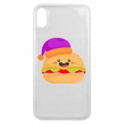 Чехол для iPhone Xs Max Happy hamburger