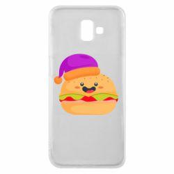 Чехол для Samsung J6 Plus 2018 Happy hamburger