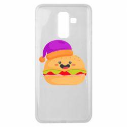 Чехол для Samsung J8 2018 Happy hamburger