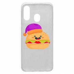Чехол для Samsung A40 Happy hamburger