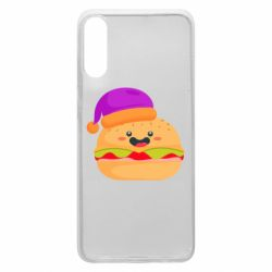 Чехол для Samsung A70 Happy hamburger