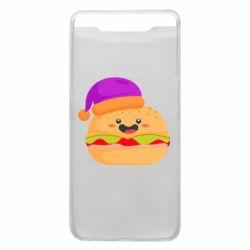 Чехол для Samsung A80 Happy hamburger