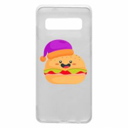 Чехол для Samsung S10 Happy hamburger