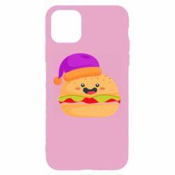 Чехол для iPhone 11 Pro Max Happy hamburger