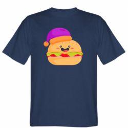 Мужская футболка Happy hamburger